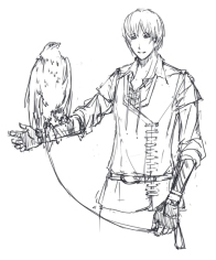 "Concept of falconer's clothing for ""Submertia."""